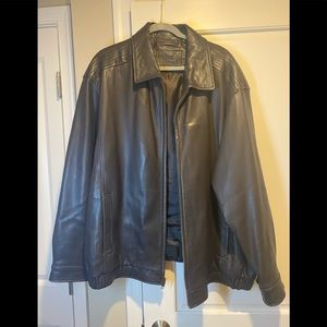 Brown Roundtree and Yorke Leather Jacket - 3X
